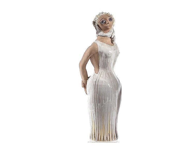 Jean MARAIS (1913-1998) « La diva » Sculpture en faïence en deux