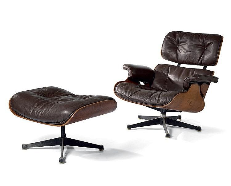 Charles EAMES (1907-1978) Fauteuil Design Eames Lounge Chair et s