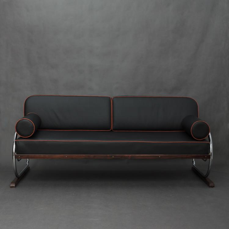 Bauhaus sofa by hynek gottvald 1930s for Bauhaus chaise lounge