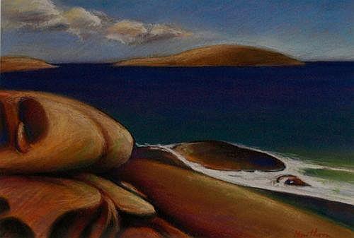 Bill Hawthorn The Rocks of Fremantle Signed lower