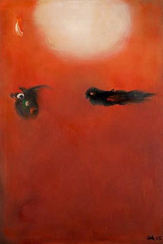 DONALD LAYCOCK - FLIGHT - Oil on canvas