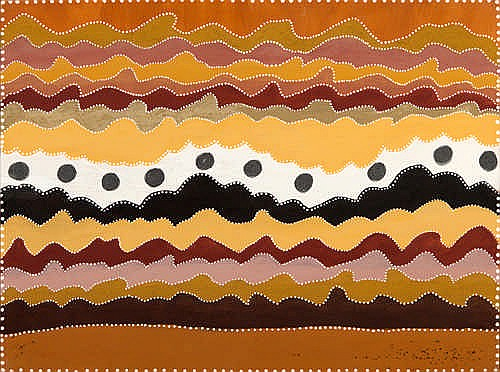 BETTY CARRINGTON - UNTITLED - Ochres on canvas