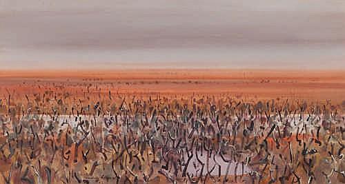 LINDSAY EDWARD - SUMMER LANDSCAPE - Watercolour