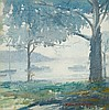 PORTIA MARY BENNETT - MISTY MORNING - Watercolour, Portia Mary Bennett, Click for value