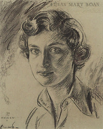 LEONARD JAMES GREEN - SUSAN MARY BOAN - Charcoal