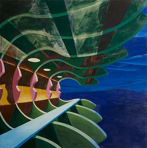 DAVID LEDGER - BULKHEAD - Oil on canvas