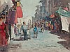 CYRIL GEORGE LANDER - FLORENCE STREET SCENE - Watercolour, Cyril Lander, Click for value
