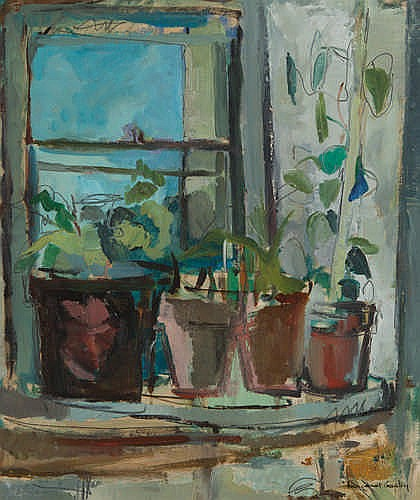 MARGARET DUNN CROWLEY - AT THE WINDOW - Oil on board