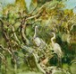 WILLIAM BOISSEVAIN (B. 1927), EGRETS, Signed &