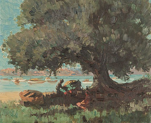 RHYS WILLIAMS (1894-1976), SUMMER SHADE, Signed
