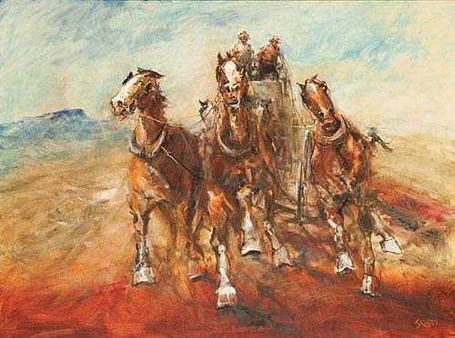 HUGH SAWREY (1919-1999) THE WHEELS OF COBB AND CO