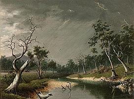 ALFRED WILLIAM EUSTACE (1820-1907) RUNNING BEFORE
