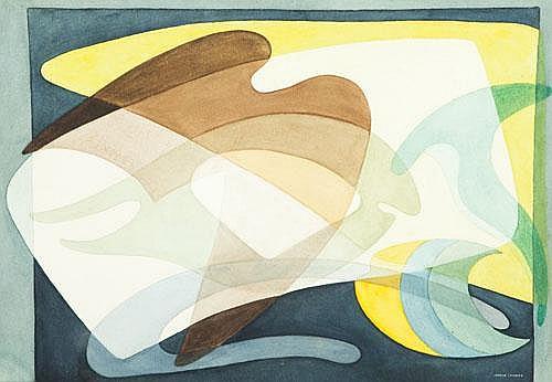 HETTY MARGARET (MARGO) LEWERS (1908-1978) ABSTRACT