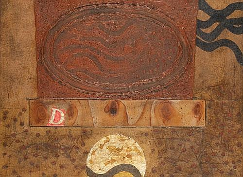 ELWYN AUGUSTUS LYNN (1917-1997) OVAL ALTAR 1968