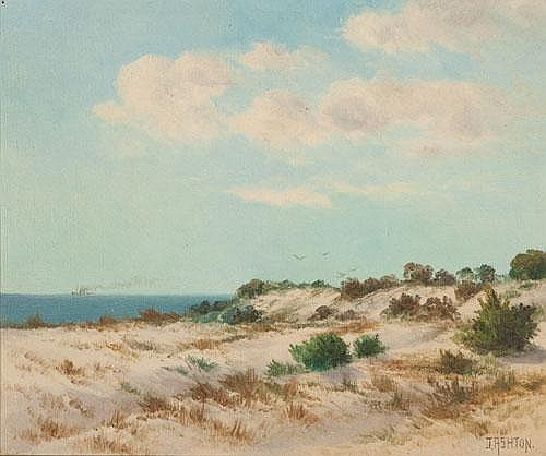 JAMES ASHTON (1859-1935) SAND DUNES Oil on board