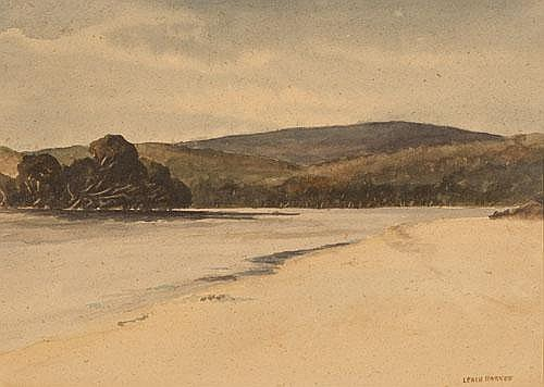 LEACH BARKER (1897-1967) ENTRANCE TO KING RIVER