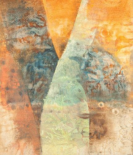 JUDY CASSAB (B. 1920) ABSTRACT Acrylic on canvas