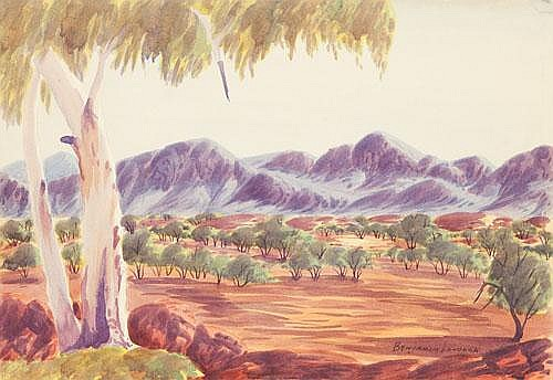 BENJAMIN LANDARA (1921-1985) LANDSCAPE Watercolour