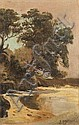 JOHN MATHER (1848-1916) TI TREE PORT PHILIP BAY, John Mather, Click for value