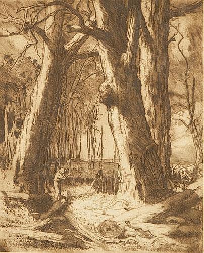 HENRI BENEDICTUS VAN RAALTE (1881-1929) RED GUMS