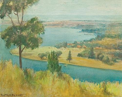 PORTIA MARY BENNETT (1898-1989) SOUTH PERTH FROM KINGS PARK