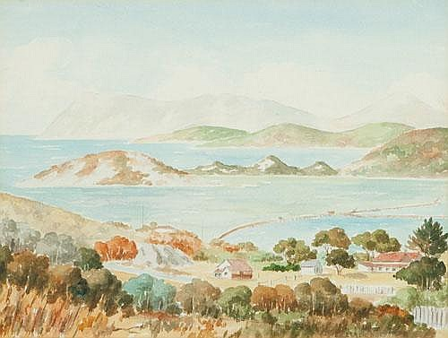 LEACH BARKER (1897-1967) ALBANY HARBOUR