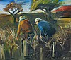 MURRAY GILL (B. 1944) PRUNING THE VINES Signed, Murray Gill, Click for value