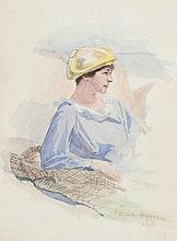 JULIAN ROSSI ASHTON (1851-1942) THE YELLOW BERET