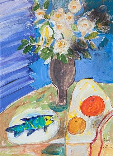 MURRAY GILL (B.1944)  STILL LIFE  Signed and inscribed for Amanda lower right