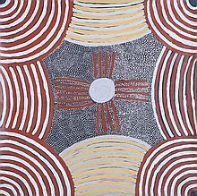 ADA BIRD PETYARRE (c1930-2009) WOMEN'S CEREMONIES Western Desert Aboriginal Art Certificat