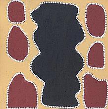 JOCK MOSQUITO JUBARTJARRI (B.c1940) BLACK ROCK - INVERWAY Our Land Gallery Certificate. Ca