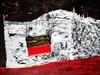 ELWYN AUGUSTUS LYNN - RIVER OF BONES, SARAJEVO, QUARTZ QUARRY AFTER THE FIRE - Mixed media on canvas, Elwyn Lynn, AUD7,000