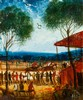 KEVIN CHARLES (PRO) HART - RACE MEETING - Oil on card, Pro Hart, AUD1,100