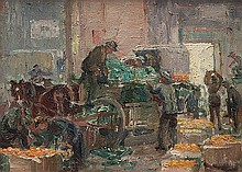 MARIE ANNE TUCK (1872-1947) SOLDIERS UNLOADING