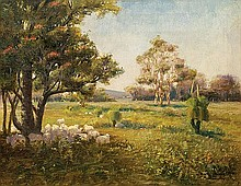 WALTER PATTERSON MESTON (1870-1936) LANDSCAPE AT