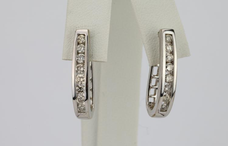 1.15ctw SI1-SI2/G-H Diamond & Solid 14K White Gold 1