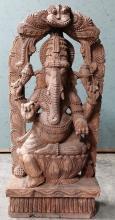 18th C. Solid Wood Ganesh 24