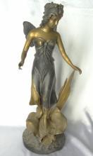 Art Nouveau Bi-Color Solid Bronze 24