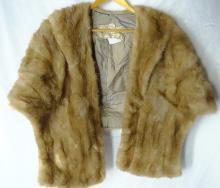 Vintage Designer Genuine Sable Mink Shoulder Wrap Made by The Harris Company