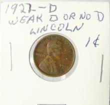 1922-D Lincoln Cent *Weak D* RARE