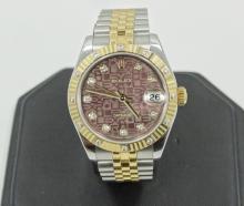 2008 Rolex Two Tone SS/18K Datejust W/Original Diamond Accented Fluted Bezel, Jubilee Diamond Dial, & Jubilee Bracelet *NICE*