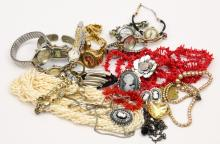 Mixed Lot of Unsearched Costume Jewelry & Watches