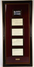 James Brown Apollo Theater Show Notes in Museum Quality Framed Presentation (Only Others Known in Existance in Archives Center of the Smithsonian's National Museum of American History)