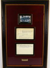 Ray Charles Apollo Theater Show Notes in Museum Quality Framed Presentation (Only Others Known in Existance in Archives Center of the Smithsonian's National Museum of American History)