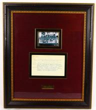 Aretha Franklin Apollo Theater Show Notes in Museum Quality Framed Presentation (Only Others Known in Existance in Archives Center of the Smithsonian's National Museum of American History)