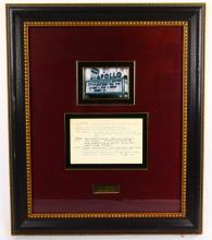 The Supremes Apollo Theater Show Notes in Museum Quality Framed Presentation (Only Others Known in Existance in Archives Center of the Smithsonian's National Museum of American History)
