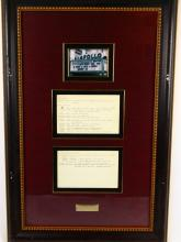 Flip Wilson Apollo Theater Show Notes in Museum Quality Framed Presentation (Only Others Known in Existance in Archives Center of the Smithsonian's National Museum of American History)