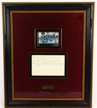 Richard Pryor Apollo Theater Show Notes in Museum Quality Framed Presentation (Only Others Known in Existance in Archives Center of the Smithsonian's National Museum of American History)