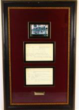 George Kirby Apollo Theater Show Notes in Museum Quality Framed Presentation (Only Others Known in Existance in Archives Center of the Smithsonian's National Museum of American History)