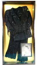 Liza Minnelli Framed Broadway Show Worn Two-Piece Sequence Outfit in Museum Quality Display